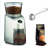 Capresso 56004C Infinity Conical Burr Grinder w/ Capresso Grand Aroma Whole Bean Coffee (8.8oz) + Hic Coffee Measure