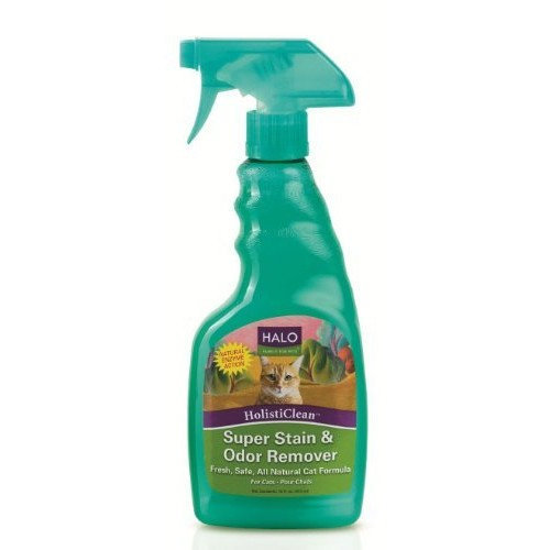 Halo HolistiClean Stain and Odor Remover for Cats, 16oz