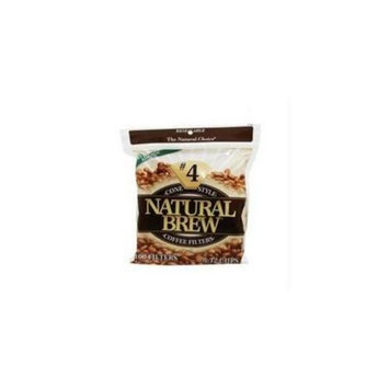 Natural Brew B62102 Natural Brew Coffee Filters Cone, #4 -12x40cnt