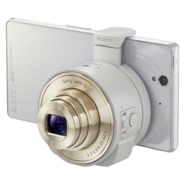 Sony Smartphone Attachable Lens-Style Camera - White (DSCQX10/W)