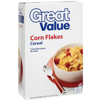 Great Value Corn Flakes Cereal, 18 oz