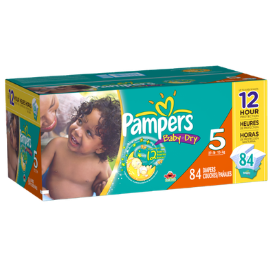 Pampers Baby Dry Diapers Size 5 Super Pack 84 Count