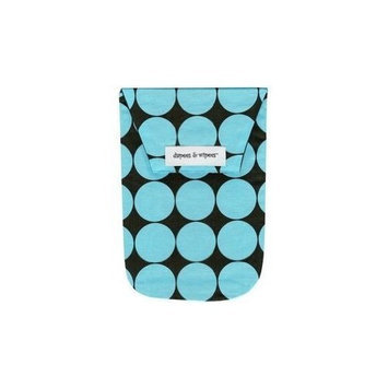 Diapees And Wipees diapees & wipees Diaper Pouch - Blue Disco Dot