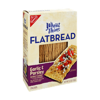 Nabisco Wheat Thins Flatbread Garlic & Parsley  Crackers