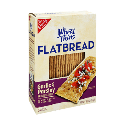Nabisco Wheat Thins Flatbread Garlic & Parsley  Crackers