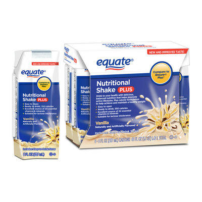 Equate Vanilla Nutritional Shake Plus