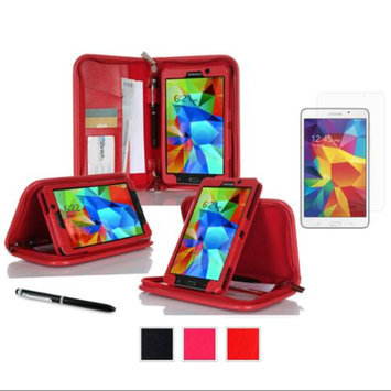 rooCASE Samsung Galaxy Tab 4 7.0  Executive Portfolio Leather Cover with Ultra HD Plus Screen Protector