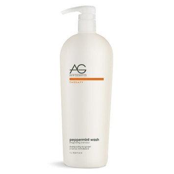 AG Hair Cosmetics Invigorating Shampoo for Unisex, Peppermint Wash, 33.8 Ounce