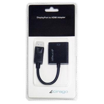 Cirago DisplayPort to HDMI Passive Adapter, Black