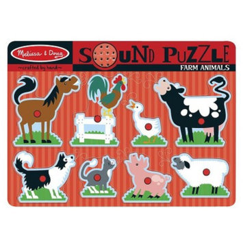 Melissa and Doug Farm Animals Sound Puzzle Ages 2+
