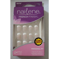 Nailene Perfect Fit for Flat Nails, Ideal for Hard to Fil Nails 24 Nails Includes Glue 12 Sizes Box of Square Shape Short Nails