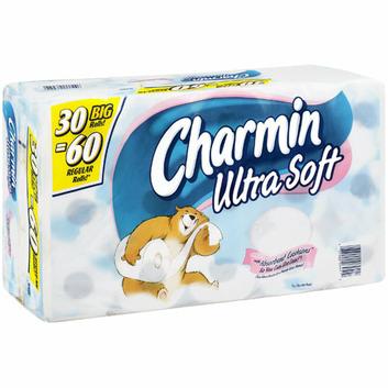 Charmin Ultra Soft : Big Rolls With Absorbent Cushions Bathroom Tissue