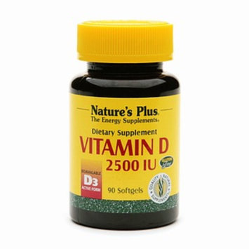 Nature's Plus Vitamin D 2500 IU Dietary Supplement Softgels
