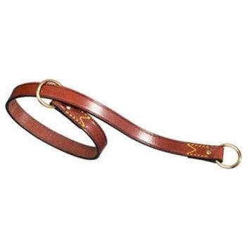 Pet Ego Flat Leather Choke Dog Collar Brown, Size: 19.625 in.