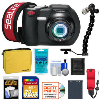 SeaLife DC1400 14MP HD Underwater Digital Camera with 32GB Card + Case + Battery + LED Torch & Arm Bracket + Accessory Kit