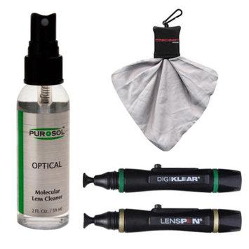PUROSOL Purosol All Natural Optical Molecular Lens & DSLR Camera Cleaner (2 Fl. Oz.) with (2) Lenspens + Spudz Cloth
