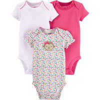 Child Of Mine by Carter's Newborn Baby Girl Bodysuits, 3-Pack