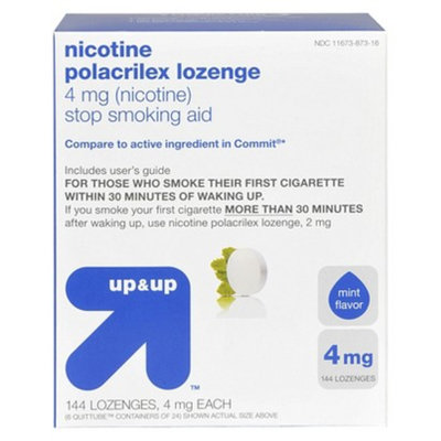 up & up Mint Flavor 4-mg. Nicotine Lozenges - 144 ct.