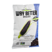 Simply Sprouted Way Better Snacks Simply Unbeatable Blues Tortilla Chips