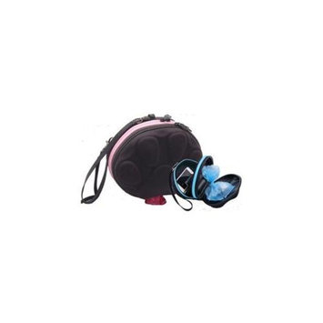 PoopPac Designs PP2-00009 Dog Walker Waste Case Black with Baby Pink Zipper