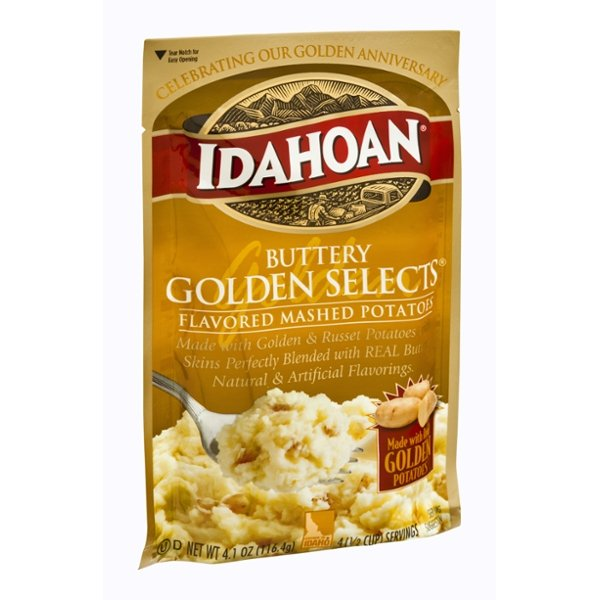 Idahoan Buttery Golden Selects Flavored Mashed Potatoes