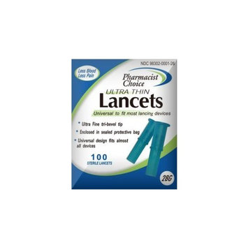 Pharmacist Choice Pull Top 28g Lancets 100s #898302001265