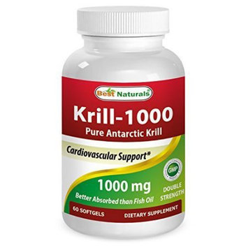 Krill Oil 1000Mg - Double Strength - 60 Softgels - Contains High Concetration Of Astaxanthin - Higher In Omega 3 Than