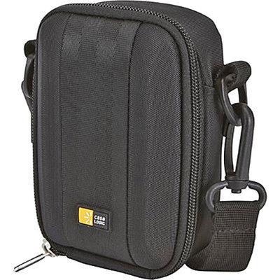 Case Logic QPB-202 Case Logic Medium Camera/Flash Camcorder Case, Polyester/EVA, 3-3/4 x 2-1/4 x 5-3/4, Black