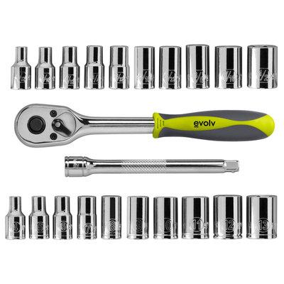 Craftsman Evolv 22 pc. 1/4-in. Drive Tool Set Standard/Metric