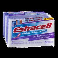 Brillo Estracell No Scratch Scrub Sponge with Wedge Edge - 2 CT