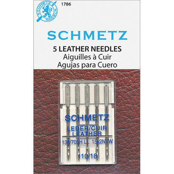 Fabscraps Euro-Notions Leather Machine Needles, Size 110/18, 5/pkg