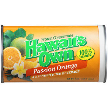 Hawaii's Own Passion Orange Frozen Concentrate, 12 fl oz