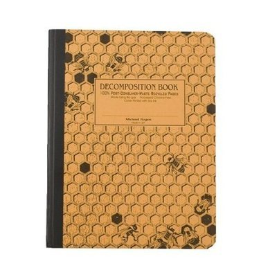 Michael Roger Honeycomb Decomposition Book, Yellow Cover with Black Printing, 7.5 x 9.75 Inches, College Ruled