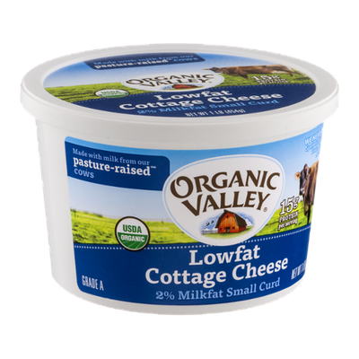 Organic Valley Lowfat Cottage Cheese Small Curd