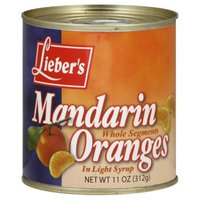 Liebers Mandarin Oranges, Whole Segments, 11-Ounce (Pack of 24)