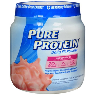Pure Protein Daily Fit Mixed Berry Dietary Supplement Powder - 19.2 oz