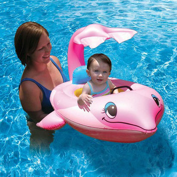 Poolmaster Dolphin Baby Seat Float - Pink