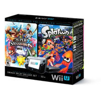 Nintendo Wii U Splatoon and Super Smash Bros Console Deluxe Set