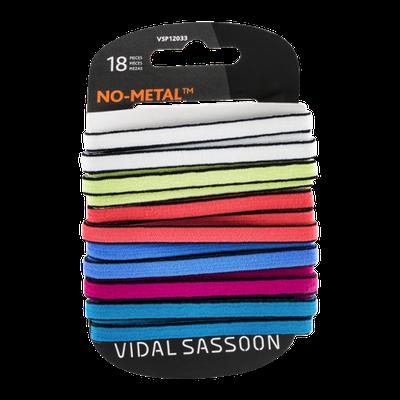 Vidal Sassoon No Metal Two Tone Flat Elastics - 18 CT