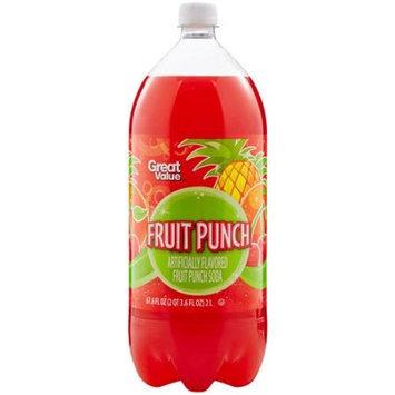 Great Value Fruit Punch Soda, 2 l