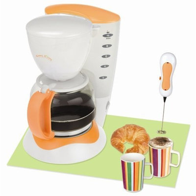 Kalorik CM-25693T Sunny Morning 10-Cup Coffeemaker with Milk Frother and 2 Mugs, Tangerine