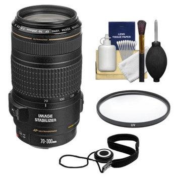 Canon EF 70-300mm f/4-5.6 IS USM AF Lens + UV Filter + Accessory Kit for EOS 5D Mark II III, 6D, 7D, 70D, Rebel T3, T3i, T5i, SL1 Cameras