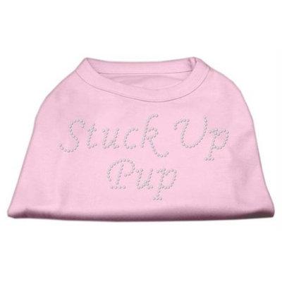Mirage Pet Products 5276 XLLPK Stuck Up Pup Rhinestone Shirts Light Pink XL 16