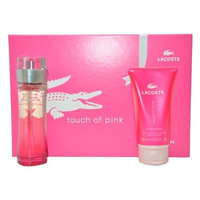 Touch of Pink by Lacoste for Women Gift Set 3 Ounce EDT Spray, 5 Ounce Body Lotion