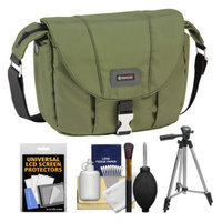 Tamrac 5422 Aria 2 Compact DSLR / ILC Camera Shoulder Bag (Moss Green) with Tripod + Cleaning Kit
