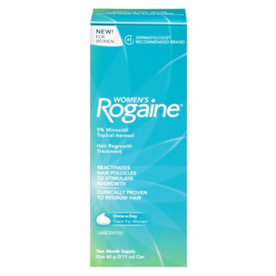 Women's Rogaine Hair Regrowth Treatment Foam, 2 Month Supply, 1 ea