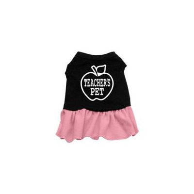 Mirage Pet Products 57-51 LGBKPK Teachers Pet Screen Print Dress Black with Pink Lg - 14