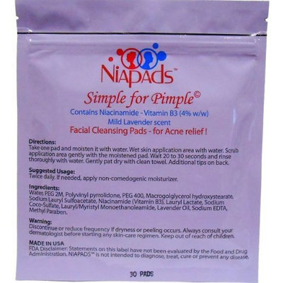 Niapads ® - Facial Pads for Acne and Acne Scars