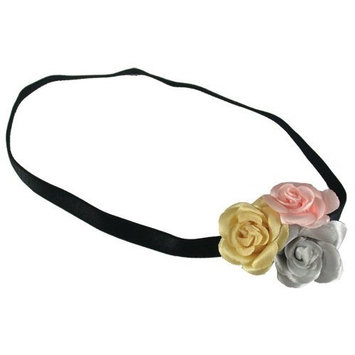 Smoothies 3 Pastel Roses MF Headband-Yellow, Pink, Gray 01603