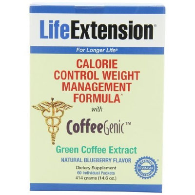 Life Extension Coffeegenic Green Coffee Extract, Blueberry, 60 Count